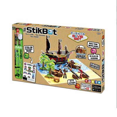 Игровой набор для анимационного творчества STIKBOT S2 – ОСТРОВ СОКРОВИЩ (1 фиг., наклейки, аксесс.)