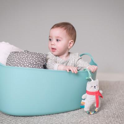 """Развивающая игрушка-подвеска коллекции """"Полярное сияние"""" - БЕЛЫЙ МЕДВЕЖОНОК"""