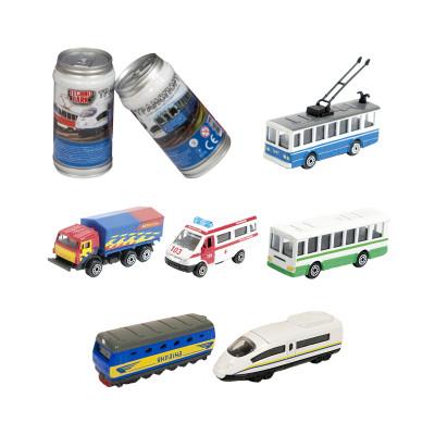 Мини-модели городской транспорт - МАШИНКА В БАНКЕ (в диспенсере, ассорти)
