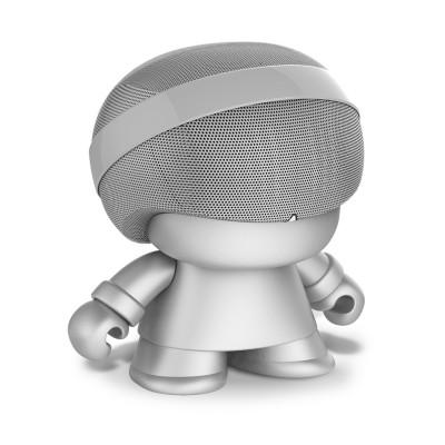 Акуст. стереосистема XOOPAR - GRAND XBOY (20 cm,серебр.,Bluetooth,микроф,аудио&USB-каб.,LED)