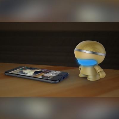 Акуст. система XOOPAR - Mini XBOY (7,5 cm, зол., c Bluetooth, зарядн.USB-каб, LED-подсв., ремешк.)