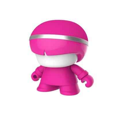 Акуст. система XOOPAR Mini XBOY (7,5 cm,роз.,Bluetooth,USB-каб,подсв., ремешк.)