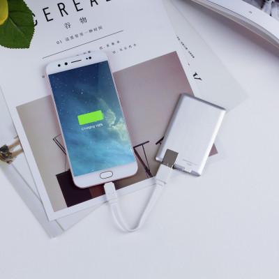 Внешн. портат.аккум. батарея XOOPAR - POWER CARD(Li-Pol,1300мА*ч,сереб,microUSB/USB-каб, LED)