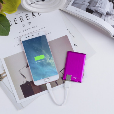 Внешн. порт.аккум. батарея XOOPAR - POWER CARD(Li-Pol,1300мА*ч,роз,microUSB/USB-каб,LED-индикатором)