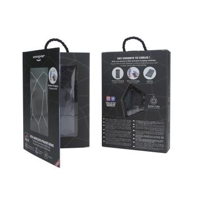 Беспр. порт.внеш. аккум батар XOOPAR - GEO WIRELESS POWERBANK(Li-Pol,5000мА*ч,чер с бел.LED,присоск)