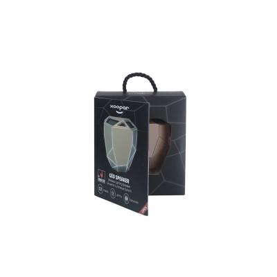 Акуст. система XOOPAR-GEO SPEAKER (золот.,бел. LED,с Bluetooth, USB-кабелем)