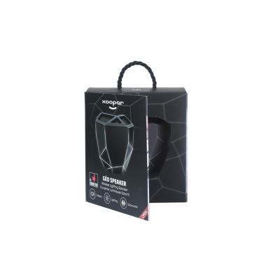 Акуст. система XOOPAR-GEO SPEAKER (черн.,бел. LED,с Bluetooth, USB-кабелем)